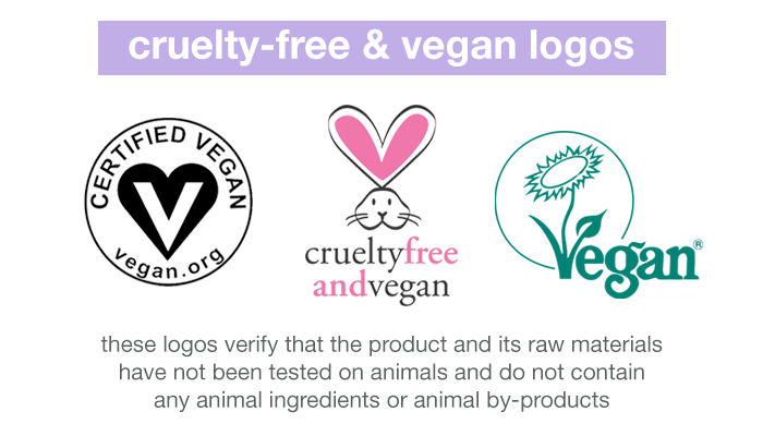 Three logos you can find on product packaging that verifies that the product is both cruelty-free and vegan