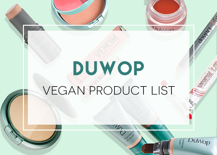 DuWop Vegan Product List