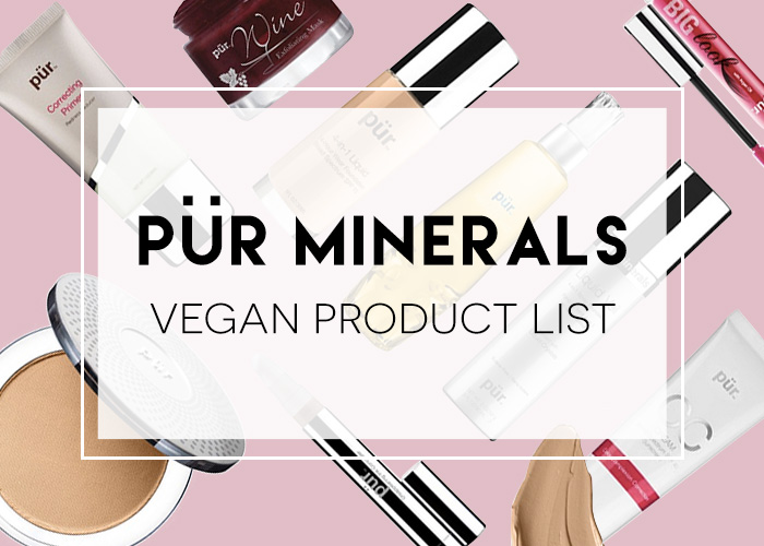 Pur Minerals Vegan Product List
