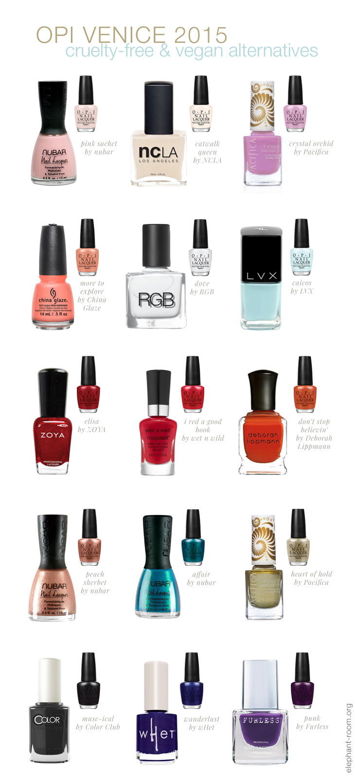 Inspired by OPI's 2015 Venice Collection, here are cruelty-free and vegan dupes!