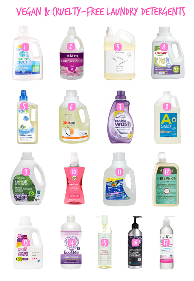 Vegan Laundry Detergents (Liquid)