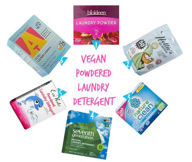 Vegan Laundry Detergents (Powdered)
