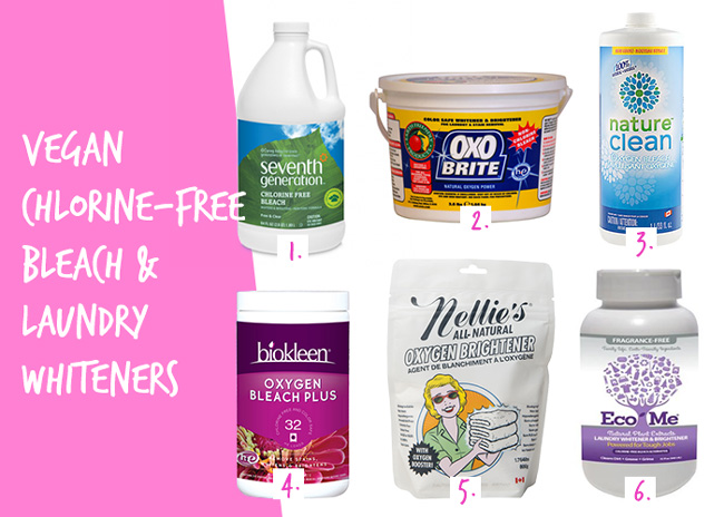 Vegan and Cruelty-Free Chlorine-Free Bleach and Laundry Whiteners