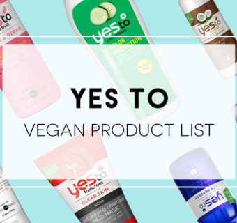 YES TO Vegan Product List 2015
