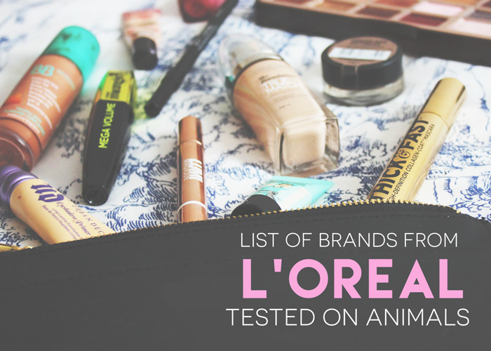 List of L'Oréal Brands Tested On Animals