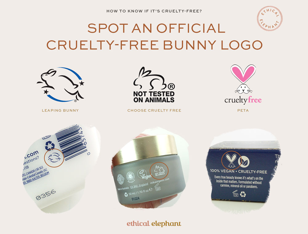 How to know if it's cruelty-free? Spot an official cruelty-free bunny logo.