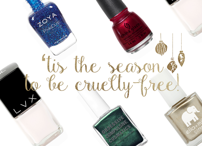 'Tis the season to be cruelty-free! holiday inspired cruelty-free and vegan nail polish!
