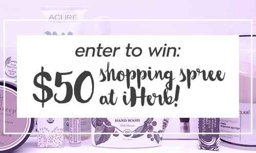 Enter to win a shopping spree at iHerb