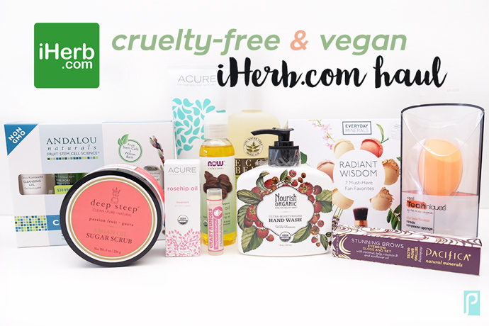 over 2,400 cruelty-free and vegan bath and beauty products at iHerb!