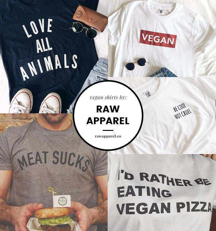 Vegan T shirts by Raw Apparel