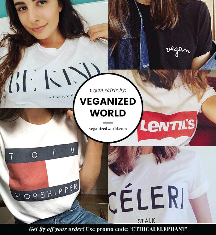 Vegan T shirts by Veganized World