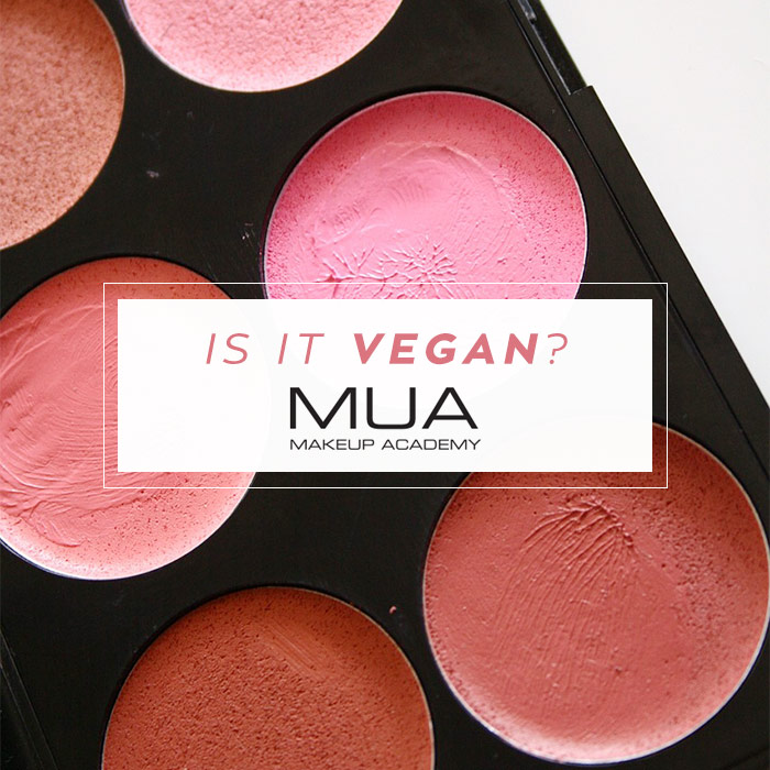 is makeup academy (MUA) vegan?