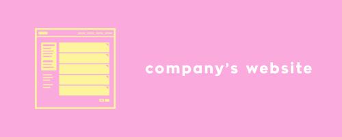 company's-website