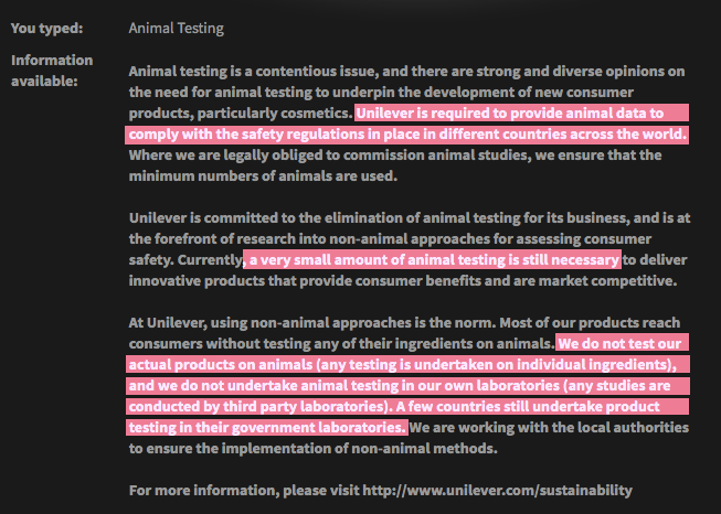 Tresemme's Animal Testing Policy