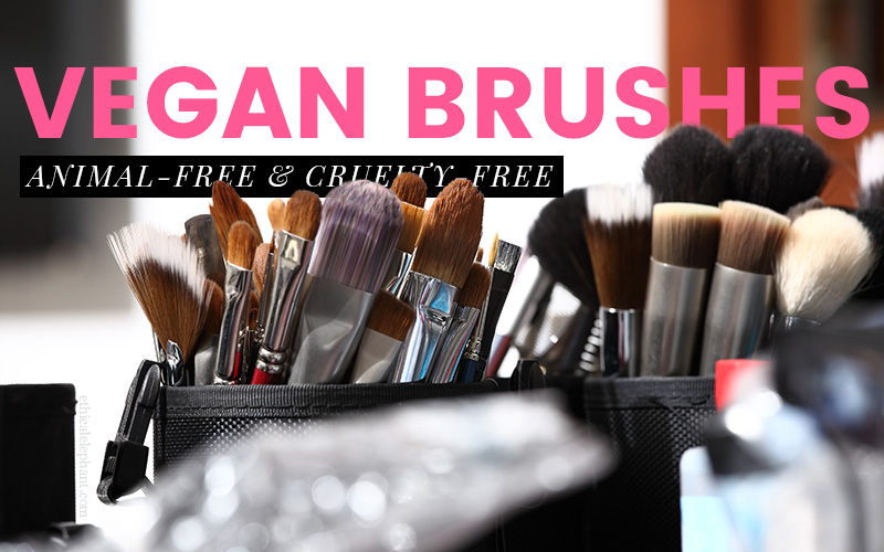 Vegan Makeup Brushes are made with synthetic fibers instead of animal hair, check out this list of 30+ vegan makeup brushes!