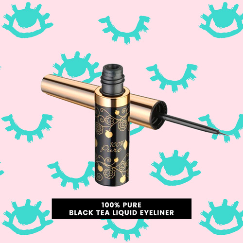 100% Pure's Black tea vegan liquid eyeliner