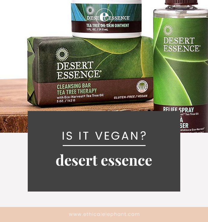 Desert Essence Vegan Product List 2019