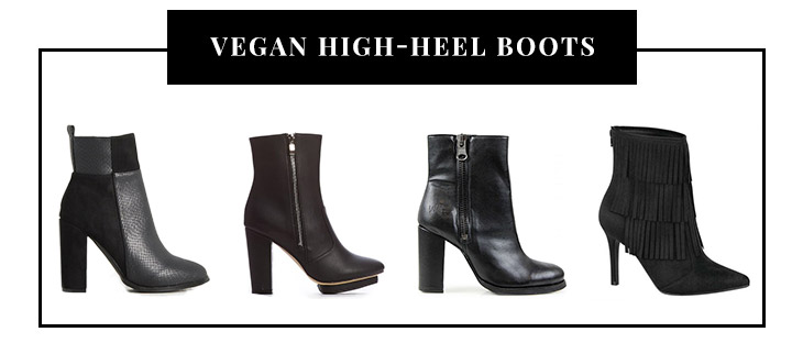 Vegan High-Heel Boots