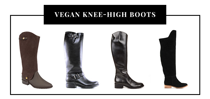 Vegan Knee-High Boots