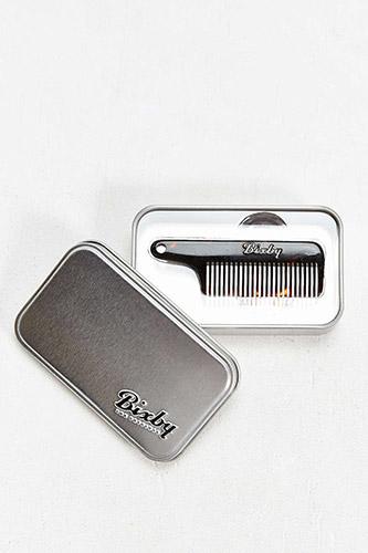 Bixby Key Chain Mustache Comb
