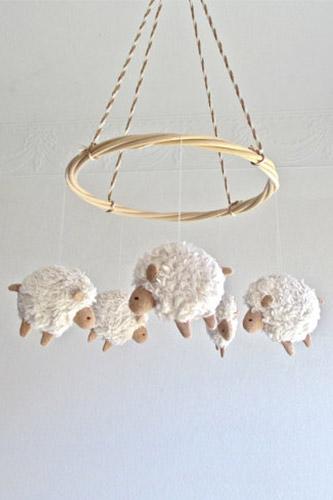 Sheep Baby Mobile
