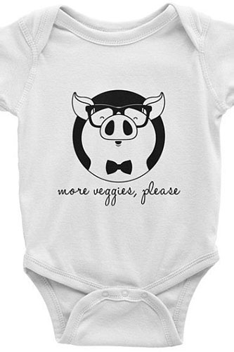 More veggies please Vegan Infant short sleeve one-piece baby