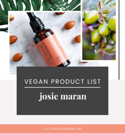 Josie Maran Vegan Product List (2019)