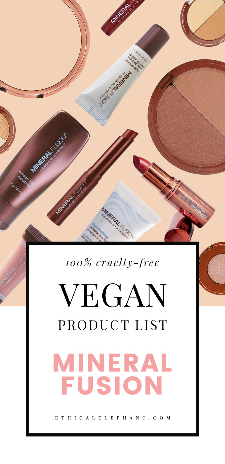 Mineral Fusion Vegan Product List (2017)