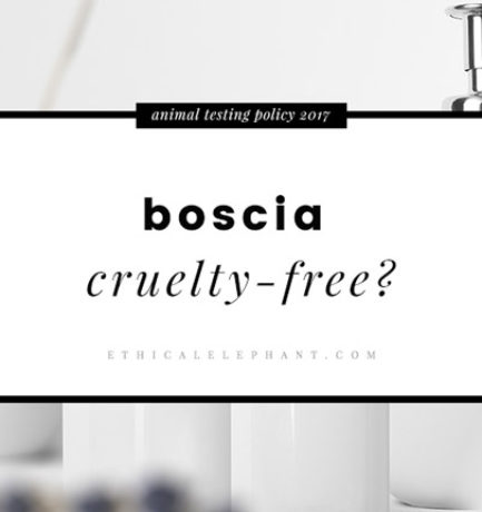 Is boscia Cruelty-free?