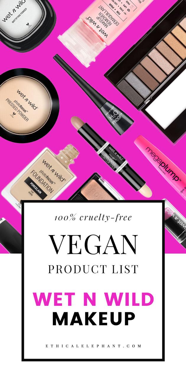 wet n wild vegan list