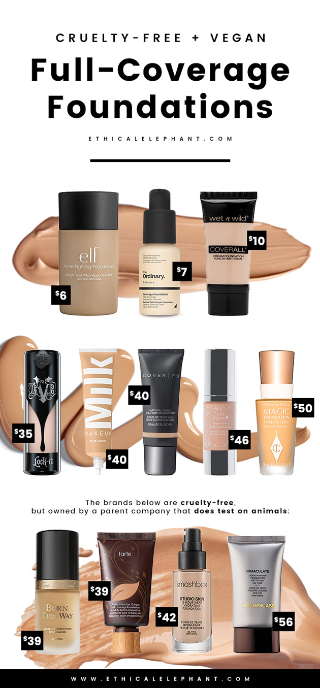 cruelty-free and vegan full coverage foundation