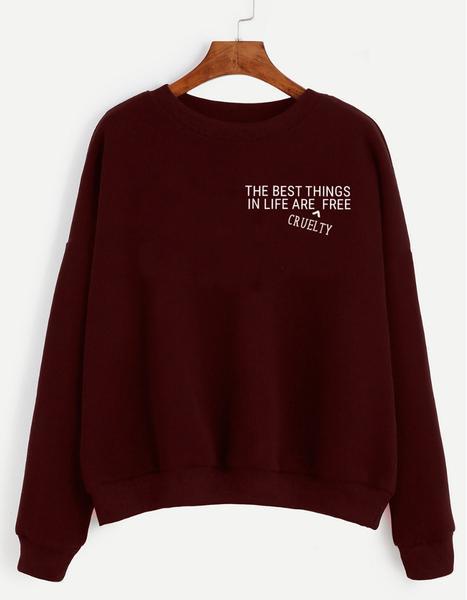 The Best Things are Cruelty-Free! Vegan Sweater