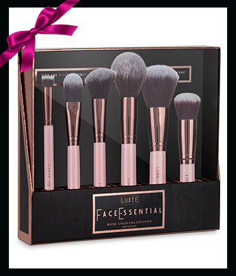 Luxie Beauty Rose Gold Face Brush Set