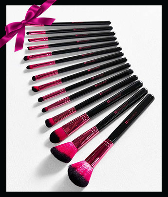 BH Cosmetics Metallic Pink 14 Piece Brush Set