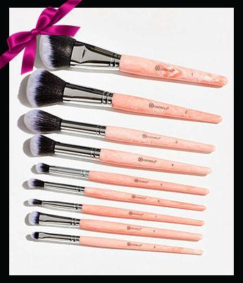 BH Cosmetics Rose Quartz 9-Piece Brush Set