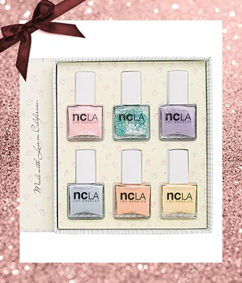 ncLA vegan nail polish Sugar Shop Gift Set - Ethical Gift Guide