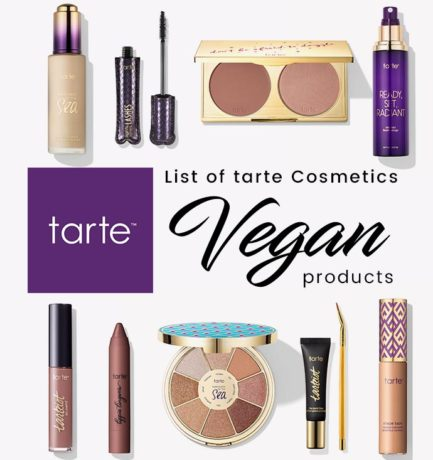 Tarte Cosmetics Vegan Product List (2017)