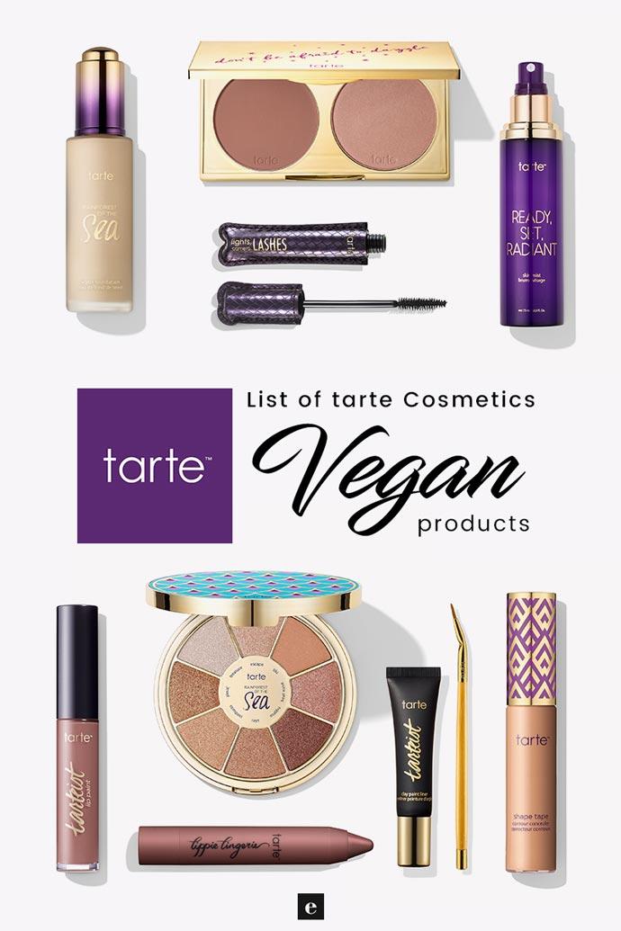tarte cosmetics vegan product list 2018 cruelty free guide