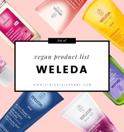 Weleda Vegan Product List (2017)