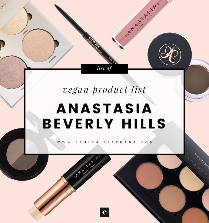 Anastasia Beverly Hills Vegan Product List