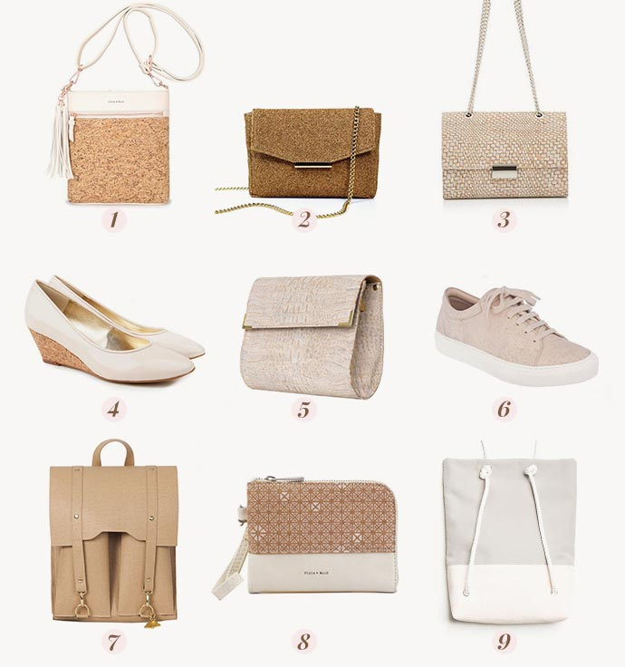 84865db412 I couldn t believe that some of these vegan bags and shoes were made from  cork material!!