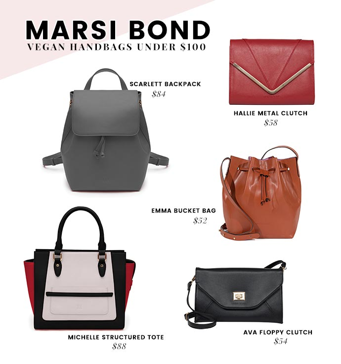 cf11486314e Affordable Vegan Handbags Brands - Under  100