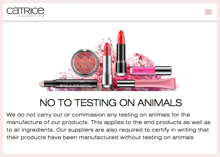 Catrice Cruelty-Free Claims