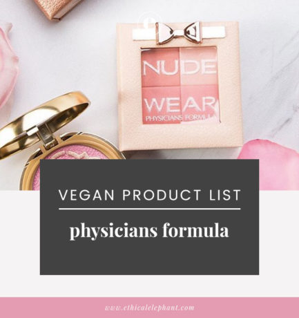 Physicians Formula Vegan Product List (2019)