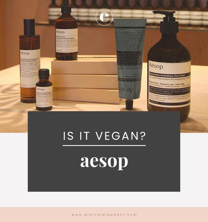 Is Aesop Vegan?