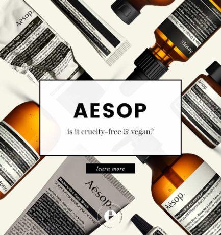 Aesop Cruelty-Free & Vegan Status (2018)