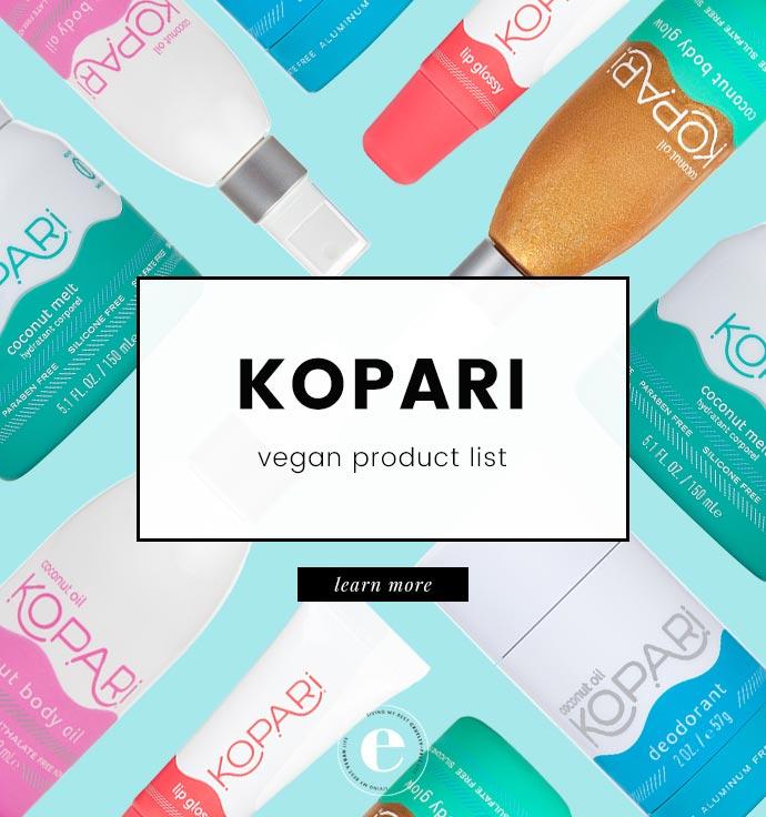 Kopari Vegan Product List