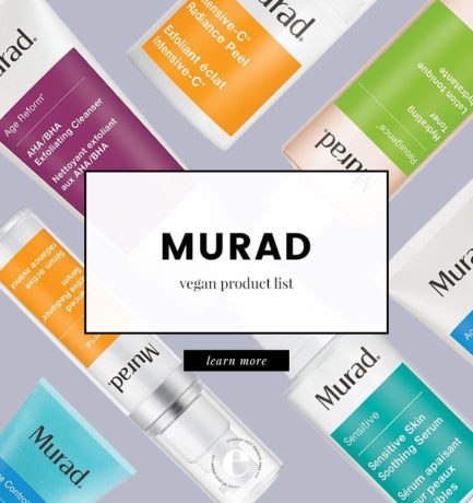 Murad Vegan Product List (2018)