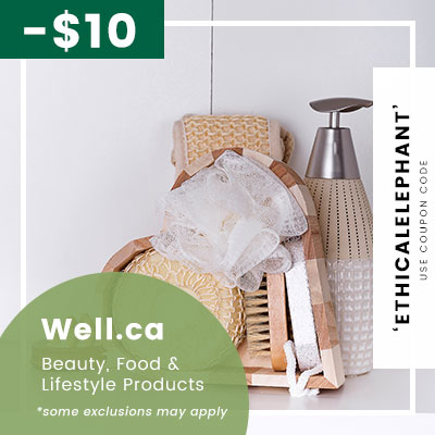 Receive $10 OFF your first order at Well.ca, Coupon Code: ETHICALELEPHANT