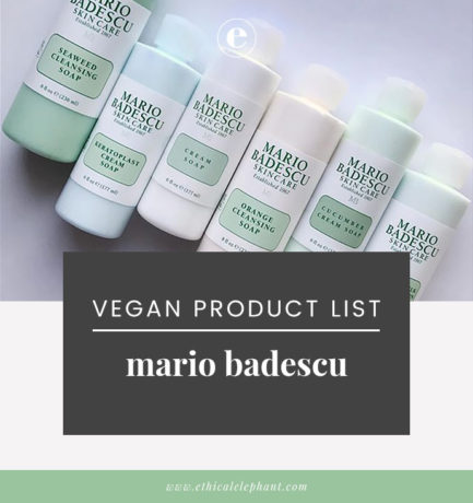 Mario Badescu Vegan Product List (2019)